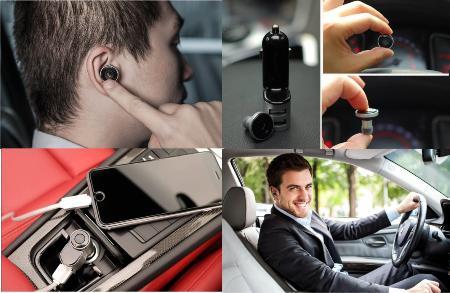 Bluetooth-гарнитура c автомобильной зарядкой